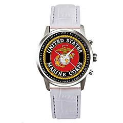 preiswerte Herrenuhren-Herrn Quartz Armbanduhr Chinesisch Chronograph PU Band Elegant Schwarz Weiß Rosa