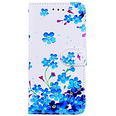 お買い得  Huawei Pシリーズケース/ カバー-ケース 用途 Huawei P10 Lite P9 Lite カードホルダー ウォレット スタンド付き フリップ パターン フルボディーケース フラワー ハード PUレザー のために P10 Lite Huawei P9 Lite Huawei P8 Lite