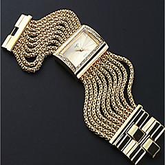 preiswerte Armbanduhren für Paare-Damen Paar Armbanduhren für den Alltag Modeuhr Quartz Silber / Gold Armbanduhren für den Alltag Analog damas Luxus Modisch - Gold Silber
