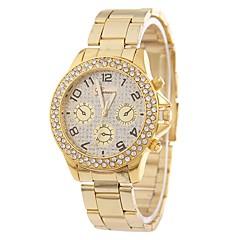 preiswerte Damenuhren-Damen Quartz Simulierter Diamant Uhr Kleideruhr Modeuhr Chinesisch Imitation Diamant Armbanduhren für den Alltag Legierung Band Freizeit