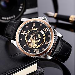 preiswerte Herrenuhren-Herrn Mechanische Uhr 30 m 50 m Chronograph PU Band Analog Luxus Modisch Braun - Silber Rose Braun / Gold / Edelstahl