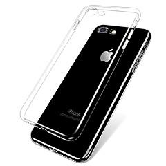 Недорогие Кейсы для iPhone X-Кейс для Назначение Apple iPhone 8 iPhone 7 Ультратонкий Прозрачный Body Кейс на заднюю панель Однотонный Мягкий ТПУ для iPhone X iPhone
