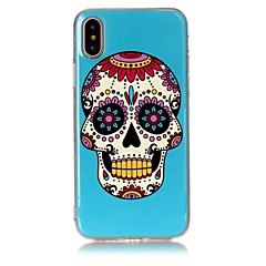 billige Etuier til iPhone 6s-Etui Til Apple iPhone X iPhone 8 Ultratyndt Bagcover Dødningehoveder Blødt TPU for iPhone X iPhone 8 Plus iPhone 8 iPhone 7 Plus iPhone 7