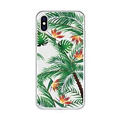 Недорогие Кейсы для iPhone 5-Кейс для Назначение Apple iPhone X / iPhone 8 Plus С узором Кейс на заднюю панель Растения / дерево Мягкий ТПУ для iPhone X / iPhone 8 Pluss / iPhone 8