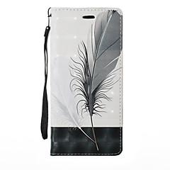 Недорогие Чехлы и кейсы для Galaxy Note 5-Кейс для Назначение SSamsung Galaxy Note 8 Note 5 Бумажник для карт со стендом Флип Чехол Растения одуванчик Мультипликация Твердый Кожа