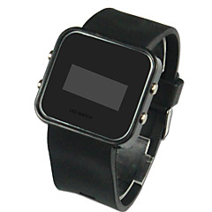 cheap Men's Watches-Men's Digital Wrist Watch Calendar / date / day LED Silicone Band Charm Black