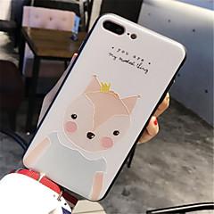 Недорогие Кейсы для iPhone 7-Кейс для Назначение Apple iPhone 6 Plus iPhone 7 Plus С узором Рельефный Кейс на заднюю панель Мультипликация Твердый Акрил для iPhone 8