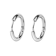 cheap Earrings-Men's / Women's Hoop Earrings - European, Fashion Black / Silver For Daily / Street