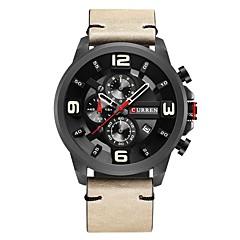 お買い得  メンズ腕時計-男性用 スポーツウォッチ クォーツ 30 m 耐水 PU バンド ハンズ ファッション ブラック / ブルー / カーキ - ブラック ブルー カーキ色