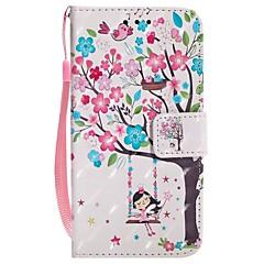 Недорогие Кейсы для iPhone 7-Кейс для Назначение Apple iPhone X iPhone 8 Plus Бумажник для карт Кошелек со стендом Флип Магнитный Чехол дерево Твердый Кожа PU для