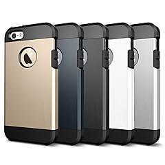 Недорогие Кейсы для iPhone 4s / 4-Кейс для Назначение Apple iPhone 8 / iPhone 7 Защита от удара / броня Кейс на заднюю панель Однотонный / броня Мягкий ТПУ для iPhone X / iPhone 8 Pluss / iPhone 8