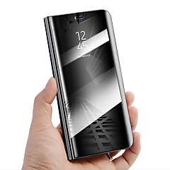 Недорогие Чехлы и кейсы для Huawei Mate-Кейс для Назначение Huawei Mate 10 lite Mate 10 pro Защита от удара со стендом Зеркальная поверхность Авто Режим сна / Пробуждение Чехол