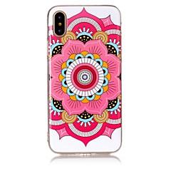 Недорогие Кейсы для iPhone 7-Кейс для Назначение Apple iPhone X iPhone 8 Ультратонкий Кейс на заднюю панель Цветы Мягкий ТПУ для iPhone X iPhone 8 Pluss iPhone 8