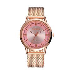 preiswerte Herrenuhren-Herrn Damen Quartz Armbanduhren für den Alltag Chinesisch Großes Ziffernblatt Plastic Band Minimalistisch Modisch Schwarz Silber Gold