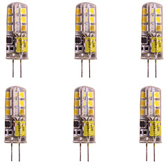 abordables Ampoules LED-WeiXuan 6pcs 2W 160lm lm G4 LED à Double Broches T 24pcs diodes électroluminescentes SMD 2835 Blanc Chaud Blanc Froid 12V