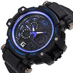 preiswerte Herrenuhren-SHIFENMEI Herrn digital Sportuhr Japanisch Kalender Wasserdicht Großes Ziffernblatt Armbanduhren für den Alltag Anker Plastic Band Luxus
