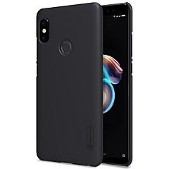 Недорогие Чехлы и кейсы для Xiaomi-Кейс для Назначение Xiaomi Redmi Note 5 Pro Redmi 5 Plus Матовое Кейс на заднюю панель Однотонный Твердый ПК для Xiaomi Redmi Note 5 Pro