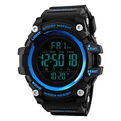 お買い得  メンズ腕時計-SKMEI 男性用 デジタル スポーツウォッチ 日本産 アラーム クロノグラフ付き 耐水 ストップウォッチ 2タイムゾーン PU バンド カジュアル ファッション ブラック レッド ブラウン グリーン