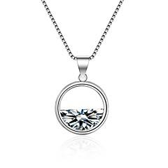 preiswerte Halsketten-Damen Kubikzirkonia Geometrisch Anhängerketten - Zirkon damas, Koreanisch, Modisch Weiß 55 cm Modische Halsketten Schmuck Für Zeremonie, Festtage