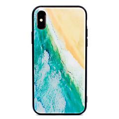 お買い得  iPhone 5S/SE ケース-ケース 用途 Apple iPhone X iPhone 8 Plus パターン バックカバー 風景 ハード 強化ガラス のために iPhone X iPhone 8 Plus iPhone 8 iPhone 7 Plus iPhone 7 iPhone 6s Plus