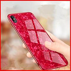 Недорогие Кейсы для iPhone 7-Кейс для Назначение Apple iPhone X / iPhone 8 Зеркальная поверхность / Рельефный Кейс на заднюю панель Геометрический рисунок Твердый Закаленное стекло для iPhone X / iPhone 8 Pluss / iPhone 8