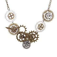 povoljno Ženski nakit-Ogrlice s privjeskom - Gear Vintage, Europska, Steampunk Braon 70 cm Ogrlice Za Dnevno, Večer stranka