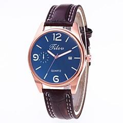 preiswerte Herrenuhren-Herrn Kleideruhr Chinesisch Chronograph / Armbanduhren für den Alltag PU Band Kreativ / Modisch Schwarz