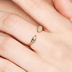 preiswerte Ringe-Damen Öffne den Ring - S925 Sterling Silber Blattform Zierlich, Grundlegend, Süß 8 Gold Für Geschenk / Alltag