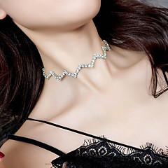 お買い得  ネックレス-女性用 チョーカー  -  ファッション / 欧風 ウェーブ シルバー 30cm ネックレス 用途 パーティー