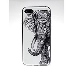 Недорогие Кейсы для iPhone 7-Кейс для Назначение Apple iPhone X / iPhone 7 Ультратонкий / С узором / Милый Кейс на заднюю панель Животное / Слон Мягкий ТПУ для iPhone X / iPhone 8 Pluss / iPhone 8