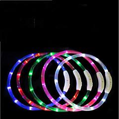 お買い得  犬用品-犬用 ネクタイ / ボウタイ LEDライト / 調整可能 / 引き込み式 / 充電式 TPU レッド / グリーン / ブルー