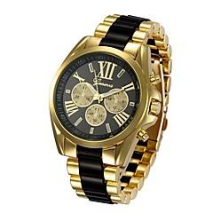 お買い得  メンズ腕時計-男性用 リストウォッチ 中国 クロノグラフ付き / 大きめ文字盤 / クールな単語 / フレーズ ステンレス バンド ぜいたく / クリエイティブ ゴールド