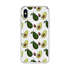 Недорогие Кейсы для iPhone 5-Кейс для Назначение Apple iPhone X / iPhone 8 Plus С узором Кейс на заднюю панель Мультипликация / Фрукты Мягкий ТПУ для iPhone X /