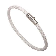 Недорогие Браслеты-Муж. Кожаные браслеты - Кожа Классический, Мода Браслеты Белый / Черный / Коричневый Назначение Официальные Для улицы