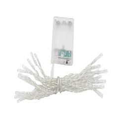 お買い得  LED ストリングライト-3M ストリングライト 20 LED Dip LED 温白色 / マルチカラー 装飾用 単3乾電池 1個 / IP44