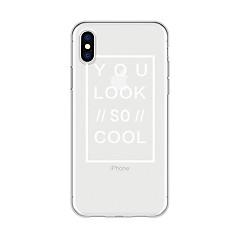 お買い得  iPhone 5S/SE ケース-ケース 用途 Apple iPhone X / iPhone 8 Plus パターン バックカバー ワード/文章 / 動物 ソフト TPU のために iPhone X / iPhone 8 Plus / iPhone 8