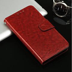 Недорогие Кейсы для iPhone X-Кейс для Назначение Apple iPhone X / iPhone 8 Plus Бумажник для карт / Кошелек / со стендом Чехол Однотонный Твердый Кожа PU для iPhone X