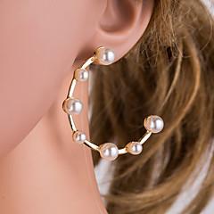 preiswerte Ohrringe-Damen Perle / Süßwasserperle Kreolen - Perle, Edelstahl, Süßwasserperle Modisch Gold Für Alltag / Büro & Karriere