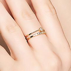 preiswerte Ringe-Damen Kubikzirkonia Bandring - S925 Sterling Silber Zierlich, Koreanisch, Elegant 8 Gold Für Geschenk / Party