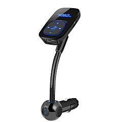 Недорогие Bluetooth гарнитуры для авто-BT06 Bluetooth 4.2 Автомобиль USB зарядное гнездо Профессиональный Bluetooth FM приемники MP3 универсальный