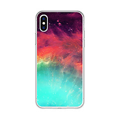 Недорогие Кейсы для iPhone 6-Кейс для Назначение Apple iPhone X / iPhone 8 Plus С узором Кейс на заднюю панель Пейзаж / Мультипликация / Градиент цвета Мягкий ТПУ для