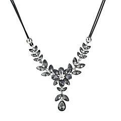 preiswerte Halsketten-Kristall / Kubikzirkonia Statement Ketten - Blattform Modisch Grau, Blau 47+5 cm Modische Halsketten Für Alltag, Ausgehen