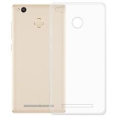 Недорогие Чехлы и кейсы для Xiaomi-Кейс для Назначение Xiaomi Redmi 3S Прозрачный Кейс на заднюю панель Однотонный Мягкий ТПУ для Xiaomi Redmi 3S / Xiaomi Redmi 3
