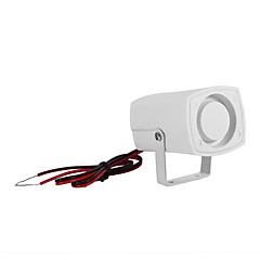 abordables Sensores de Seguridad-sh-201 mini bocina sirena de alarma 120db alarma de sonido dc 12v bocina de sirena interior para casa sistema de alarma