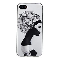 Недорогие Кейсы для iPhone 6-Кейс для Назначение Apple iPhone X / iPhone 7 Ультратонкий / С узором / Милый Кейс на заднюю панель Соблазнительная девушка /