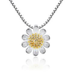 preiswerte Halsketten-Kubikzirkonia Anhängerketten - Süß, Modisch Silber, Gelb 45 cm Modische Halsketten Schmuck Für Party, Alltag
