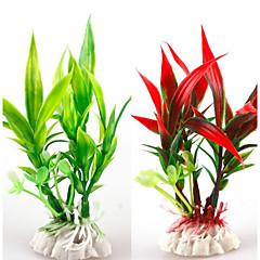 お買い得  アクアリウムデコレーション-アクアリウムの装飾 飾り / 水草 洗濯可 / 無毒&無味 / デコレーション プラスチック