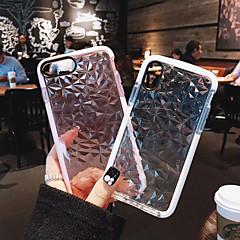 Недорогие Кейсы для iPhone 6 Plus-Кейс для Назначение Apple iPhone X / iPhone 8 Plus Защита от удара Чехол Однотонный Мягкий ТПУ для iPhone X / iPhone 8 Pluss / iPhone 8