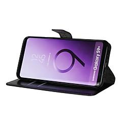 abordables Galaxy S3 Mini Carcasas / Fundas-Funda Para Samsung Galaxy S9 S9 Plus Soporte de Coche Cartera Flip Funda de Cuerpo Entero Un Color Dura Cuero de PU para S9 Plus S9 S8