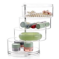 abordables Almacenamiento de Joyería y Maquillaje-El plastico Redondo Nuevo diseño Casa Organización, 1pc Cajones / Almacenamiento de Maquillaje / Organizadores de Escritorio
